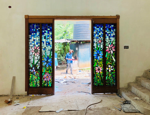 Dalle de Verre door accent 10 'Florabunda'