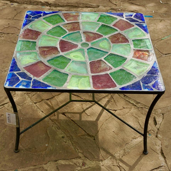 Dalle De Verre table (80cm square, 50cm high)
