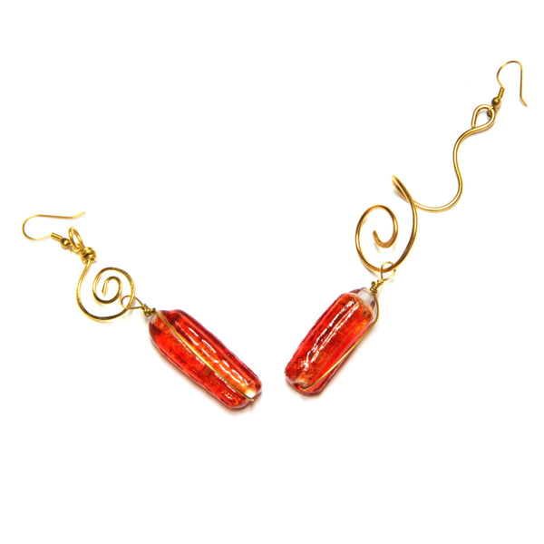 Earrings - 'Golden Hour' ~ 10cm, 9g