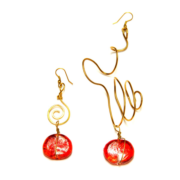 Earrings - 'Flare' ~ 11cm, 14g