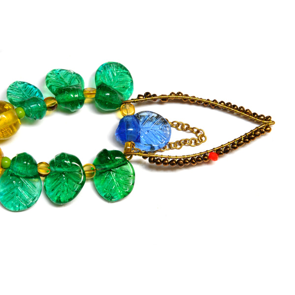Necklace - 'Lantana In The Sun' 216g, 39cm
