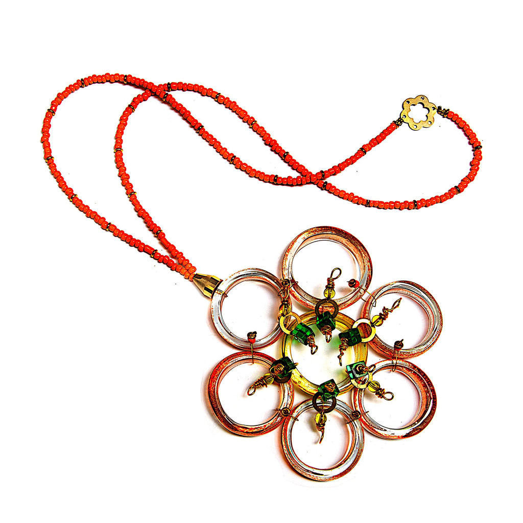 Necklace - 'Fugly Flower' 141g, 53cm