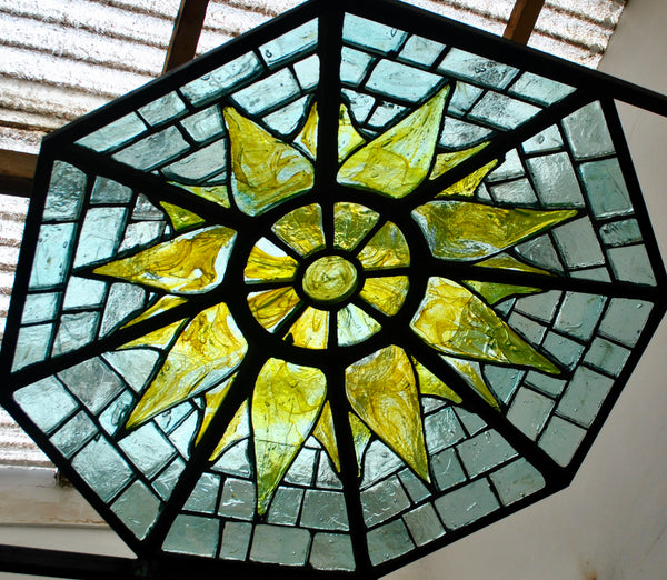 Dalle de Verre skylight 'Sunlight' panel 1.4m dia