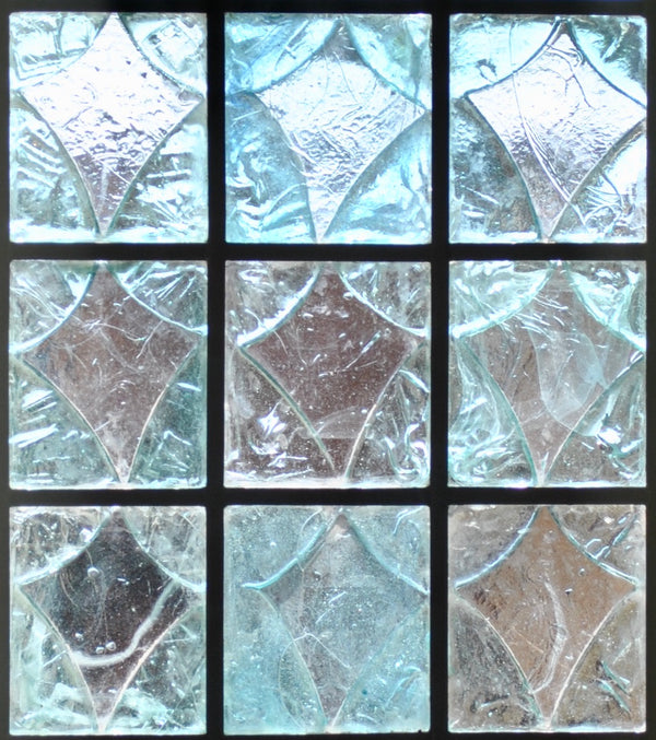 Dalle de Verre 'Cameron' custom blocks for windows 0.75m x 1.6m
