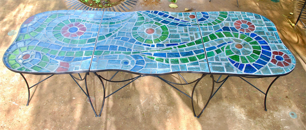 Dalle De Verre expandable table