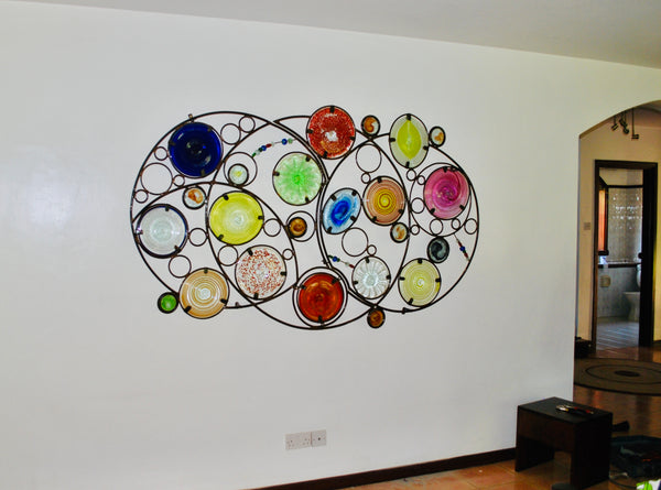Funky Fencing mural 'Circling Around' 2m x 1m