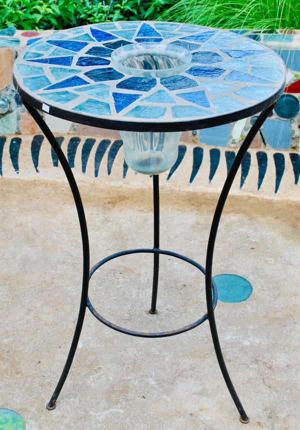Dalle De Verre bar table