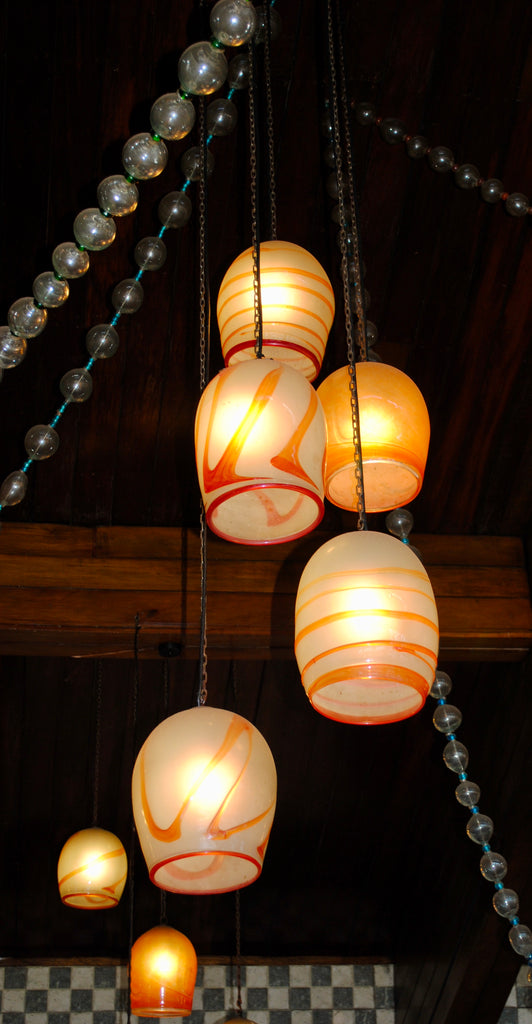 Chandelier 'Ngorongoro' hanging clusters of pendants