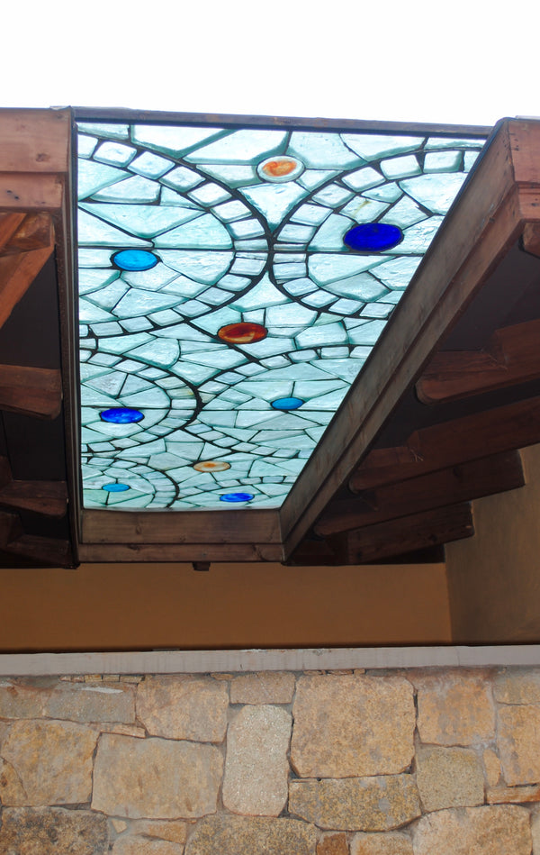 Dalle de Verre skylight 'Kizingo' panel 1.2m x 0.7m
