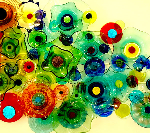 Wall art 'Flower Power' 2.5m x 1m