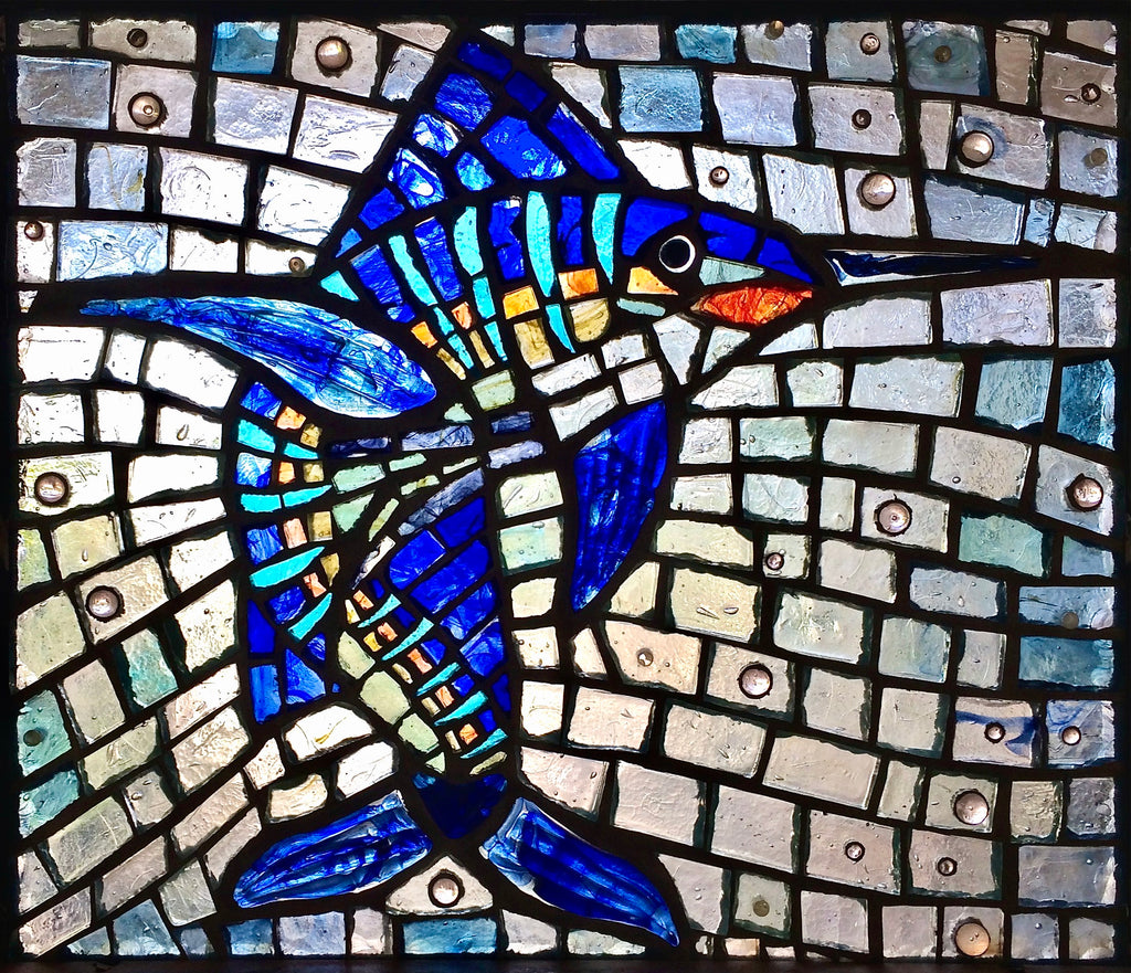 Dalle de Verre 'Sailfish' panel 1.2m square