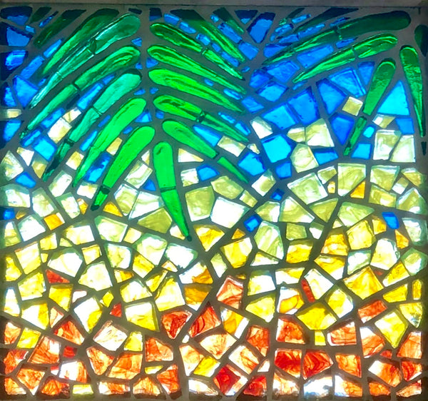 Dalle de Verre 'Hawaii' 18 panels 1.2m square