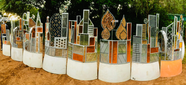 Funky Fencing screen 'Cityscapes' 12 x 2m x 1m