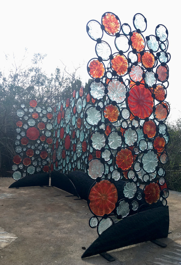 Funky Fencing screen 'Coke Bubbles' 7m x 1.8m