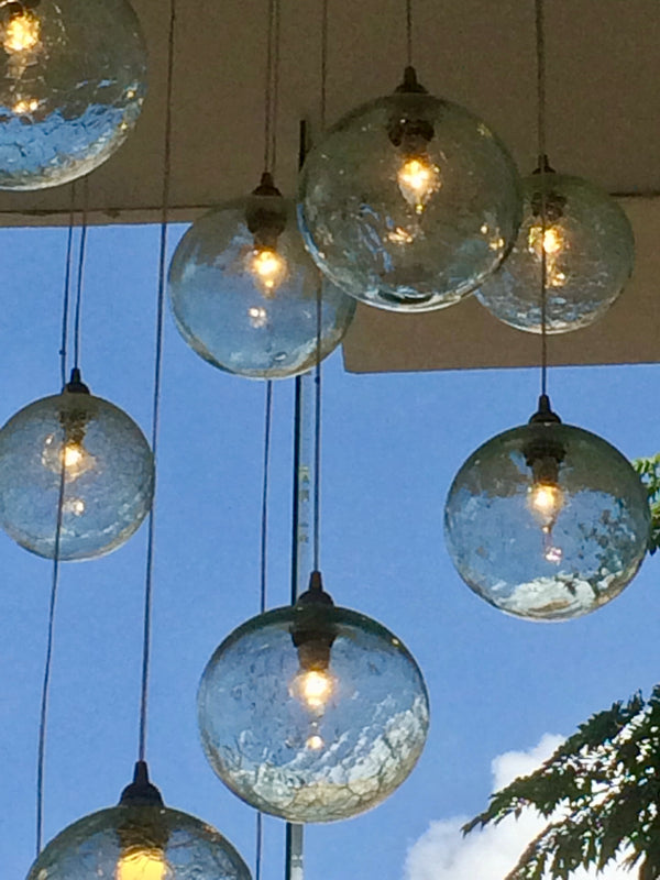 Chandelier 'Corporate Crackle' hanging cluster