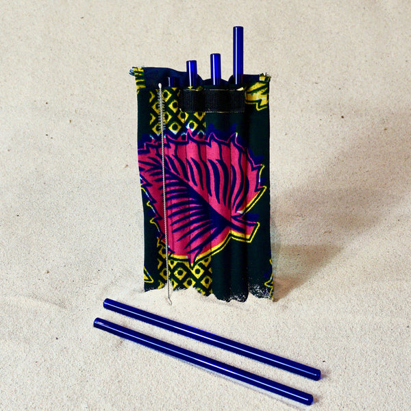 Glass straws - 6 in pouch