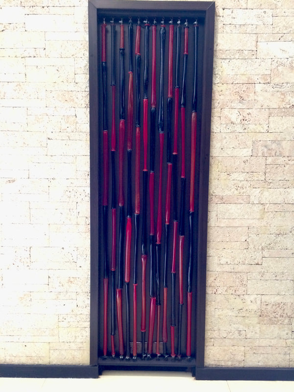 Bead curtain 'Tubular Bells' 3 x 2m x 0.8m
