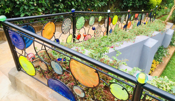 Funky Fencing balustrade 'Paintbox' ~ 0.8 x 24m
