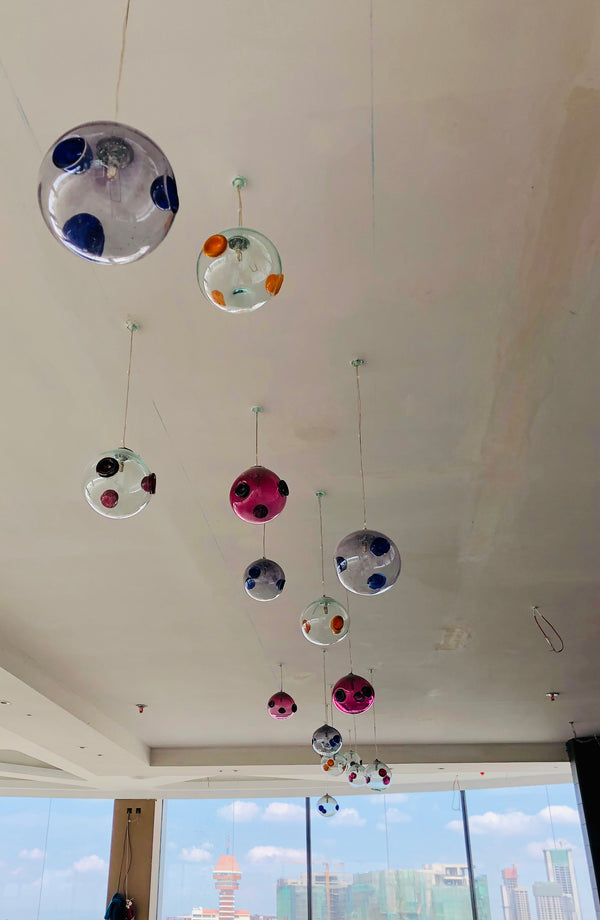 Chandelier 'Bocce Boule' hanging cluster