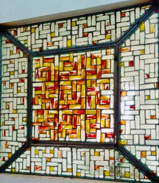 Dalle de Verre 'Blockset' 2 panels ~ 2.4m square