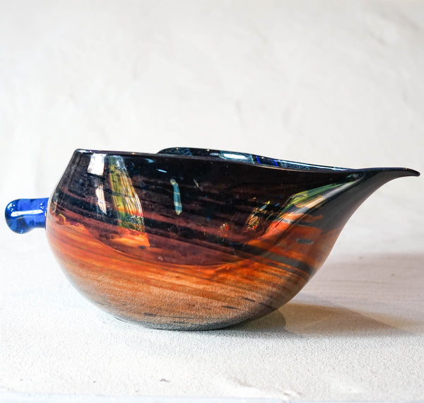 Blown glass - bowl 'Autumn' by Ondrej Novotny