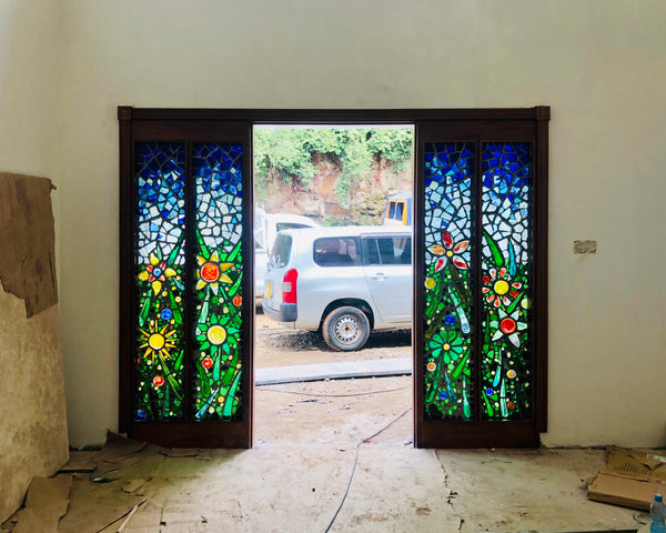 Dalle de Verre door accent 9 'Floramondo'