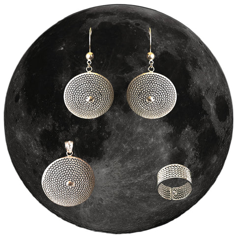 the moon silver jewellery set