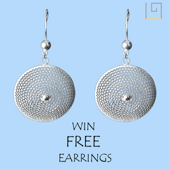 free silver jewellery earrings giveaway and contest