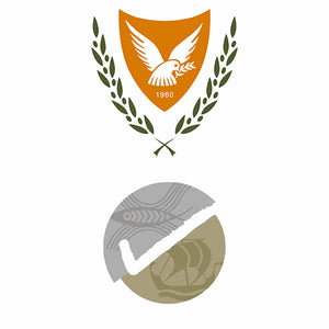 Cyprus republic silver assay office logo