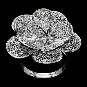 handmade silver  filigree ring from Cyprus