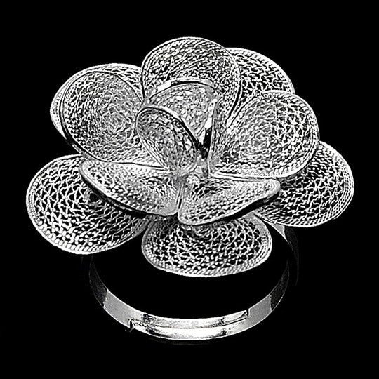 handmade silver filigree ring