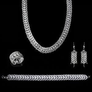 "Handmade Set ""Infinity"" - Set -  Lefkara Silver Jewellery  - Handmade silver filigree jewelry made in Cyprus"