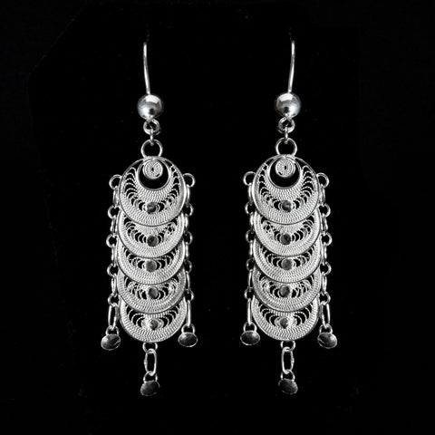 "Handmade Earrings ""Infinity"" - Earrings -  Lefkara Silver Jewellery  - Handmade silver filigree jewelry made in Cyprus"
