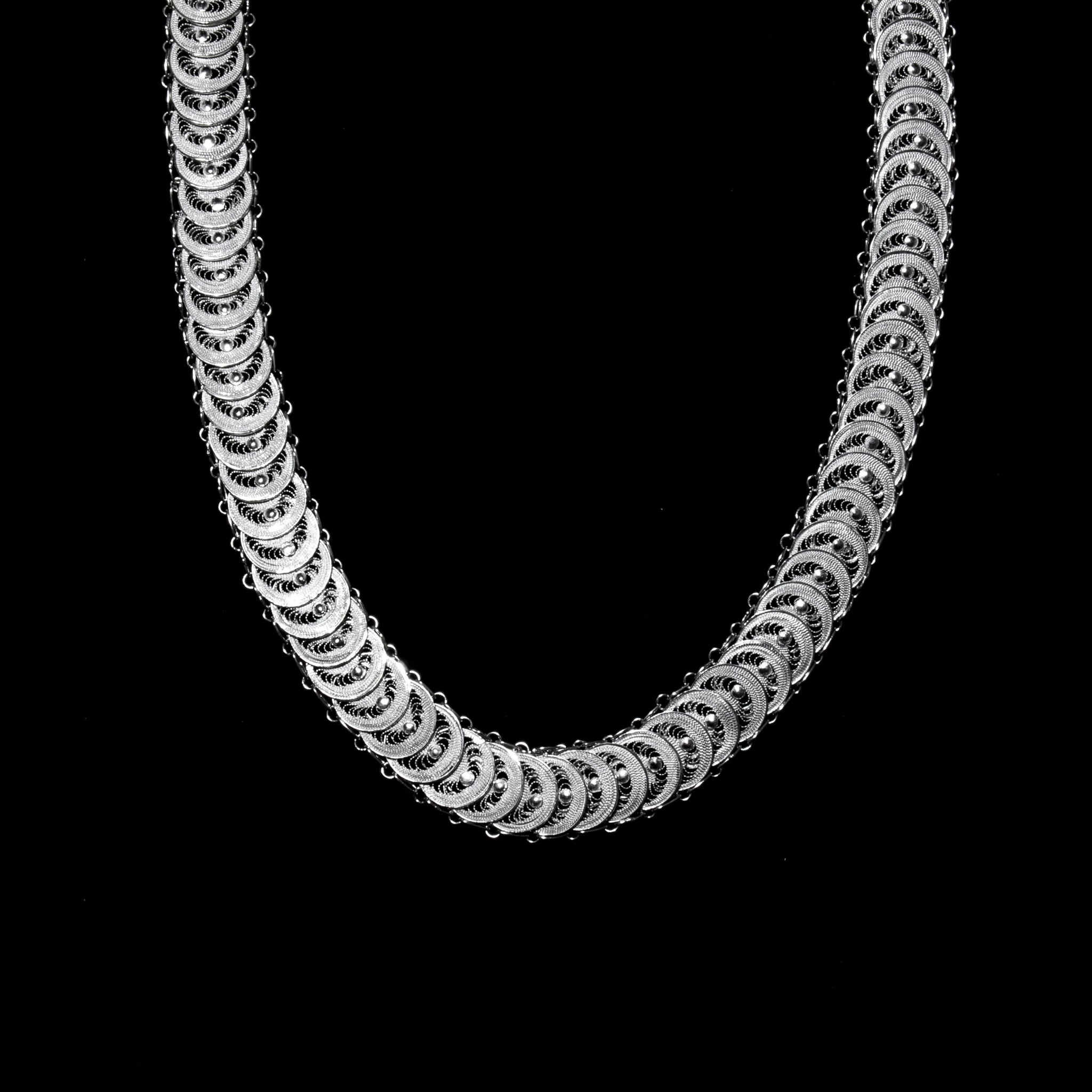 "Handmade Necklace ""Infinity"" - Necklace -  Lefkara Silver Jewellery  - Handmade silver filigree jewelry made in Cyprus"