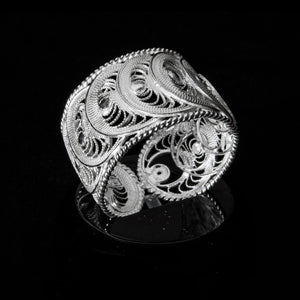 "Handmade Ring ""Infinity"" - Ring -  Lefkara Silver Jewellery  - Handmade silver filigree jewelry made in Cyprus"