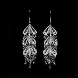 "Handmade Earrings ""Indie"" - Earrings -  Lefkara Silver Jewellery  - Handmade silver filigree jewelry made in Cyprus"