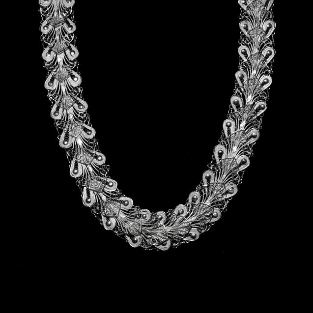 "Handmade Necklace ""Indie"" Filigree Silver Jewelry from Cyprus"