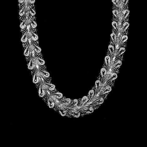 "Handmade Necklace ""Indie"" - Necklace -  Lefkara Silver Jewellery  - Handmade silver filigree jewelry made in Cyprus"