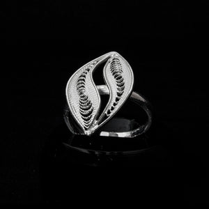 "Handmade Ring ""Wave"" - Ring -  Lefkara Silver Jewellery  - Handmade silver filigree jewelry made in Cyprus"