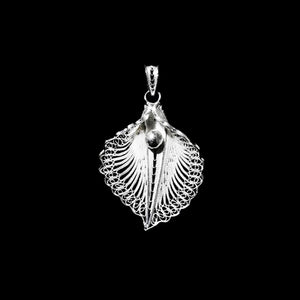 "Handmade Pendant ""Virgin Lotus"" - Pendant -  Lefkara Silver Jewellery  - Handmade silver filigree jewelry made in Cyprus"