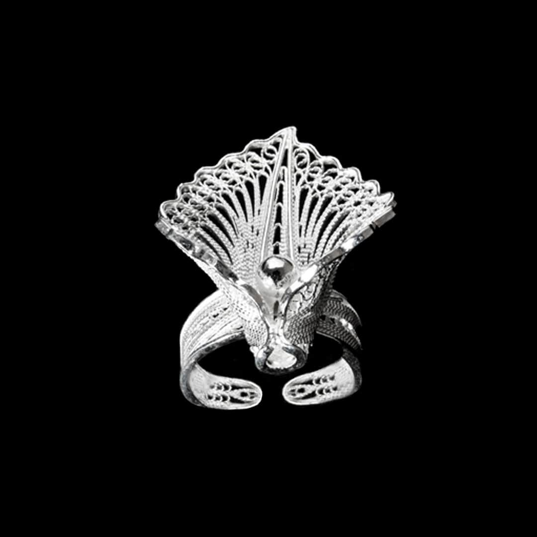 "Handmade Ring ""Virgin Lotus "" - Ring -  Lefkara Silver Jewellery  - Handmade silver filigree jewelry made in Cyprus"