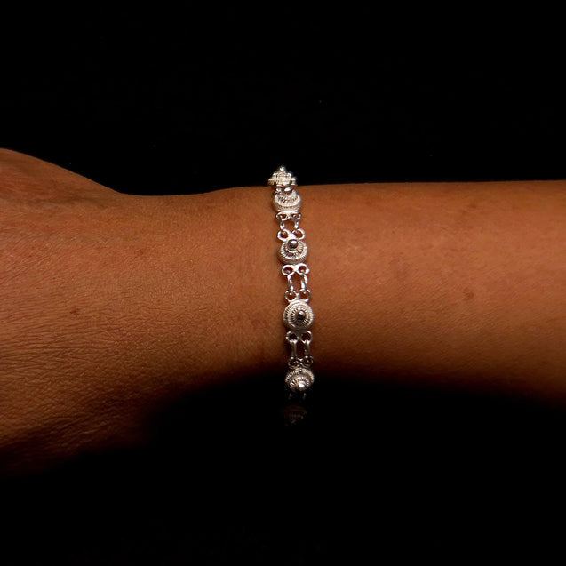 "Handmade Bracelet ""Unity"" Filigree Silver Jewelry from Cyprus"