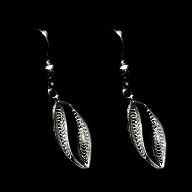 "Handmade Earrings ""Wave"" Filigree Silver Jewelry from Cyprus"