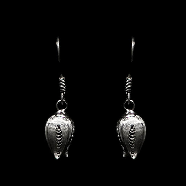 "Handmade Earrings ""Fancy Pome"" Filigree Silver Jewelry from Cyprus"