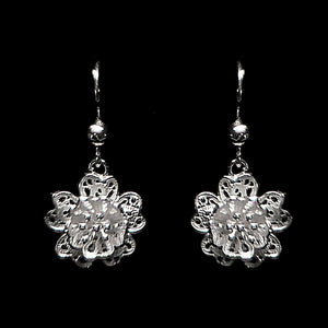 "Handmade Earrings ""Babylon"" Filigree Silver Jewelry from Cyprus"