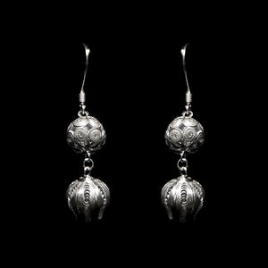 "Handmade Earrings ""Pome Sphere"" Filigree Silver Jewelry from Cyprus"