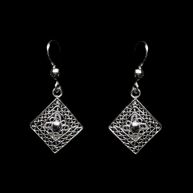 "Handmade Earrings ""Balance"" Filigree Silver Jewelry from Cyprus"