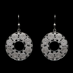 "Handmade Earrings ""Accretion"" Filigree Silver Jewelry from Cyprus"