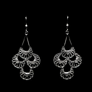 "Handmade Earrings ""Artisan"" Filigree Silver Jewelry from Cyprus"