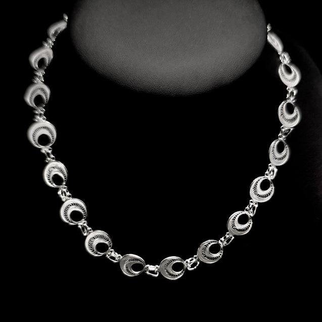 "Handmade Necklace ""Analogy"" Filigree Silver Jewelry from Cyprus"
